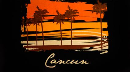 ca9e06175eb61 Playera turística estampada de Cancún.