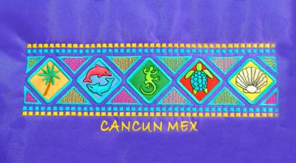2a3190026a74d Playera turística bordada de Cancún.