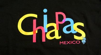16bf0e2dc9556 Playera turística estampada de Chiapas.
