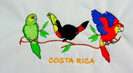 f2b7278bef197 Playera turística bordada de Costa Rica.