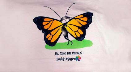 a823f4229403c Playera turística estampada de Pueblo Mágico.